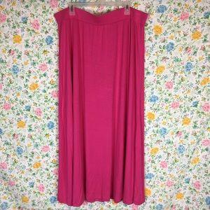 🌈 Jessica London Size 22/24 Pink Maxi Skirt